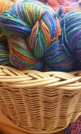 Sparkly yarn