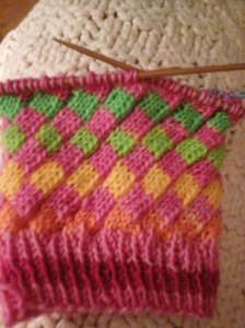 Yarn - Pink Rainbow by Fab Funky Fibers Pattern - Fruit Stripe Gum by Leah Oakley
