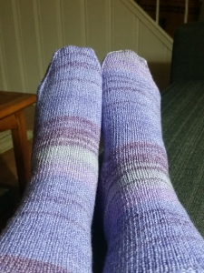 Pattern: Afterthought Heel Socks by Laura Linneman Yarn: ONline Supersocke Swing Color Colorway: 1796